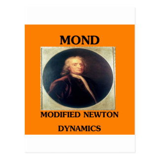 modifie newtonian dynamics physics design postcard