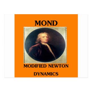 modifie newtonian dynamics physics design post card