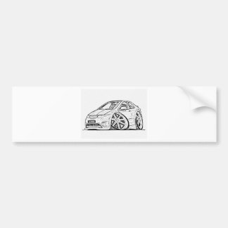 Modified car bumper sticker