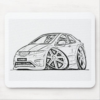 Modified car mouse pad