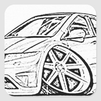 Modified car square sticker