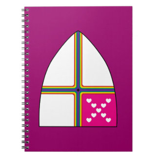 Modified Episcopal shield Spiral Notebooks
