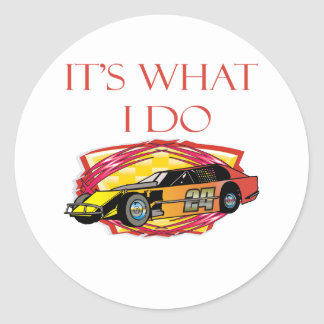 Modified Mustang Racing Car Classic Round Sticker