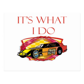 Modified Mustang Racing Car Postcard