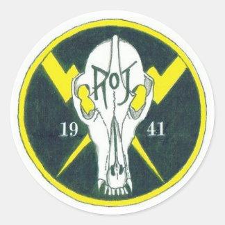 Modified ROJ Patch Classic Round Sticker