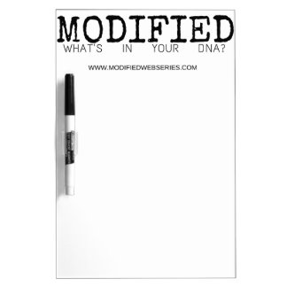 Modified: The Black collection Dry Erase Board