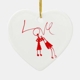 Modifique el producto para requisitos particulares adorno de cerámica en forma de corazón