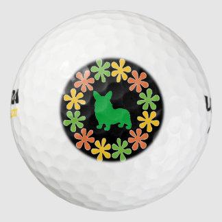 Modifique esta guirnalda floral del Corgi para
