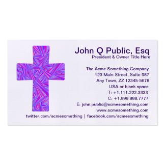 Modifique esta tarjeta cruzada cristiana púrpura tarjeta de visita