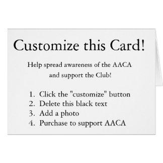 ¡Modifique esta tarjeta para requisitos particular