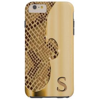 Modifique este falsos oro y snakeskin para funda de iPhone 6 plus tough