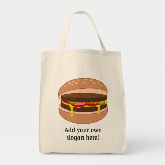 Modifique este gráfico de la hamburguesa para requ bolsas lienzo