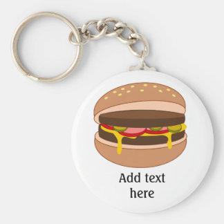 Modifique este gráfico de la hamburguesa para requ llavero redondo tipo pin