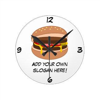 Modifique este gráfico de la hamburguesa para requ reloj redondo mediano