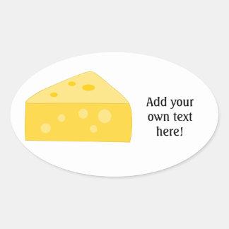 Modifique este gráfico grande del queso para pegatina ovalada