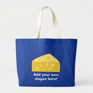 Modifique este gráfico grande del queso para requi bolsa tela grande