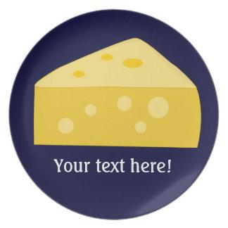 Modifique este gráfico grande del queso para requi plato de comida