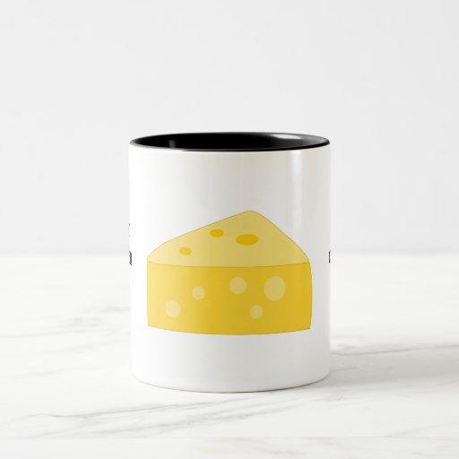 Modifique este gráfico grande del queso para taza de café de dos colores