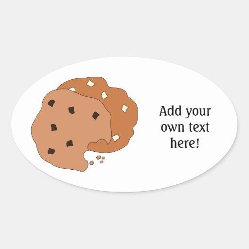 Modifique este las galletas para requisitos calcomania de óval personalizadas