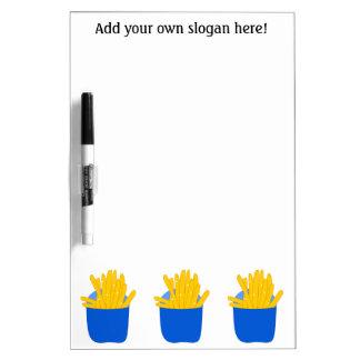 Modifique este las patatas fritas para requisitos  tablero blanco