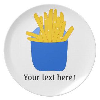 Modifique este las patatas fritas para requisitos  platos de comidas