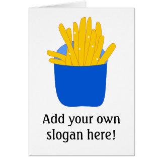 Modifique este las patatas fritas para requisitos  tarjeta de felicitación