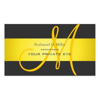 Modifique este monograma/color de fondo para tarjetas de visita