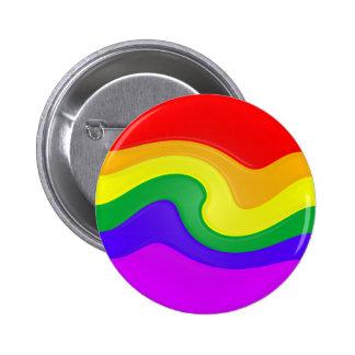 Modifique este remolino del arco iris para requisi pin redondo de 2 pulgadas