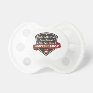 Modifique su logotipo conocido de la cafetería chupetes de bebe