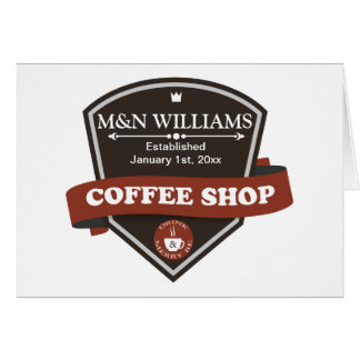 Modifique su logotipo conocido de la cafetería tarjeta de felicitación