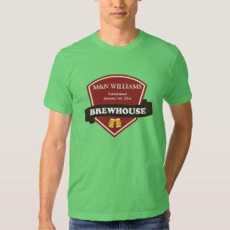 Modifique su logotipo conocido de la cervecería camisas