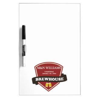 Modifique su logotipo conocido de la cervecería pa tableros blancos