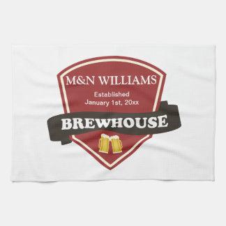 Modifique su logotipo conocido de la cervecería toallas de cocina