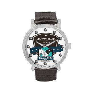 Modifique su logotipo conocido del gimnasio para r relojes de pulsera