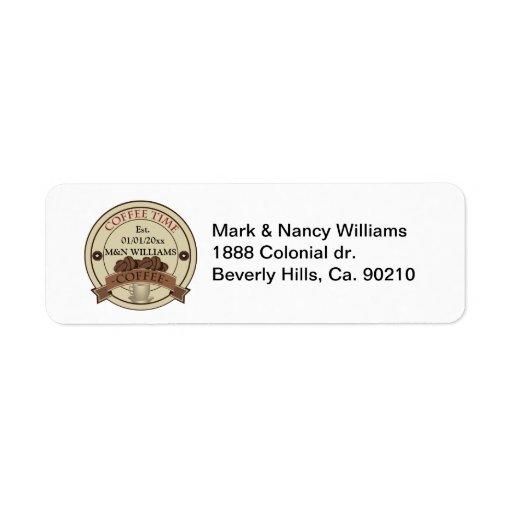Modifique su logotipo conocido del tiempo para etiquetas de remite