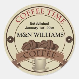 Modifique su logotipo conocido del tiempo para pegatina redonda