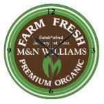 Modifique su logotipo orgánico conocido de la gran relojes