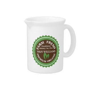 Modifique su logotipo orgánico conocido de la jarra para bebida