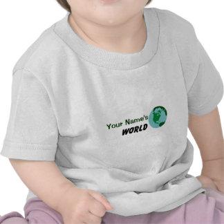 Modifique su mundo para requisitos particulares camisetas