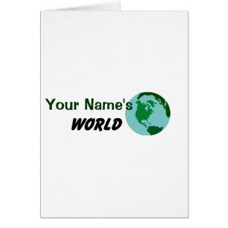 Modifique su mundo para requisitos particulares felicitación