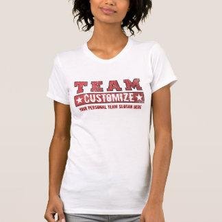 Modifique su nombre y lema para requisitos particu camiseta