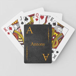 Modifique su nombre y naipes para requisitos parti barajas de cartas