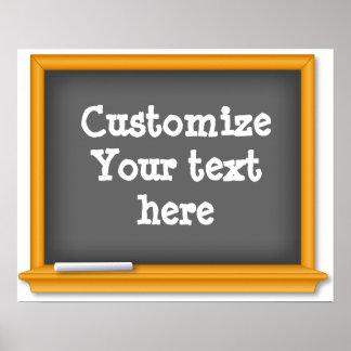Modifique su pizarra del texto para requisitos póster