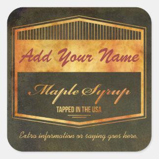 Modifique su propia etiqueta del jarabe para