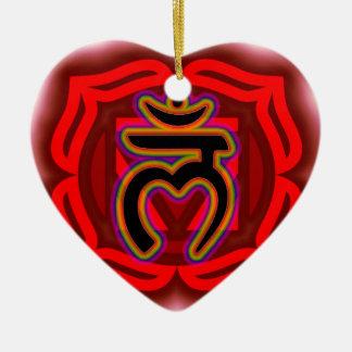 Modifique su propia raíz Chakra de Chakra para Adorno De Cerámica En Forma De Corazón