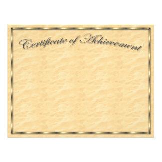 Modifique su propio certificado para requisitos pa tarjetas publicitarias