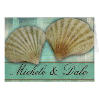 Modifique su propio diseño del seashell para requi felicitación