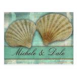 Modifique su propio diseño del seashell para requi tarjetas postales