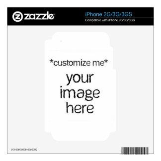 Modifique su propio diseño para requisitos particu iPhone 3GS skin
