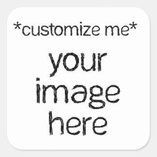 Modifique su propio diseño para requisitos pegatina cuadradas personalizada